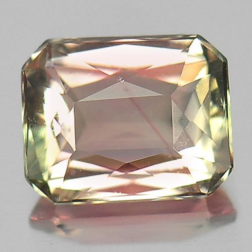 Good Cutting 0.86 Ct. Octagon Natural Gem Bi Color Tourmaline Nigeria