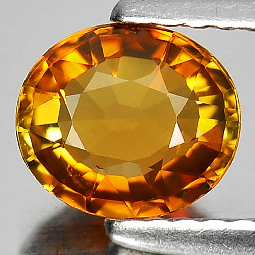 0.85 Ct. Oval Shape Natural Gem Yellow Tourmaline From Nigeria