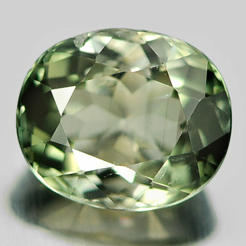 0.97 Ct. Charming Oval Natural Gem Green Tourmaline Unheated