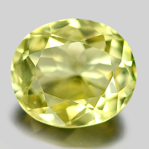0.79 Ct. Good Color Oval Natural Gem Greenish Yellow Tourmaline Nigeria