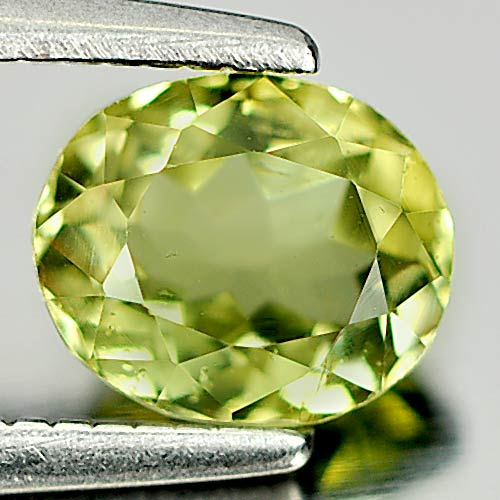 0.80 Ct. Oval Natural Gem Greenish Yellow Tourmaline From Nigeria