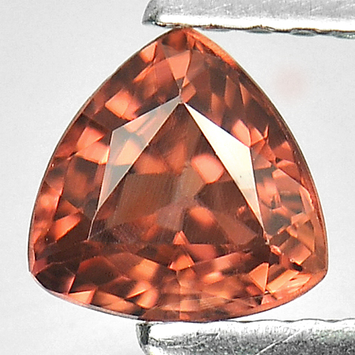 0.99 Ct. Natural Imperial Zircon Gemstone Trilliant Shape From Tanzania