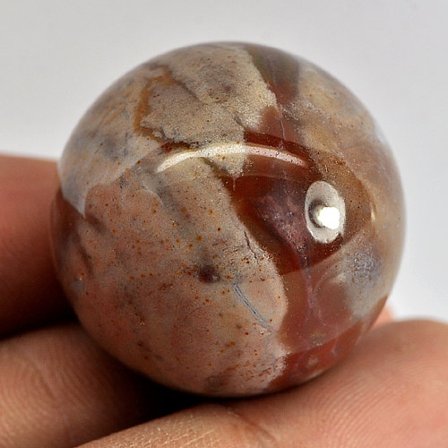 105.69 Ct. Natural Picture Jasper Gemstone Round Cabochon