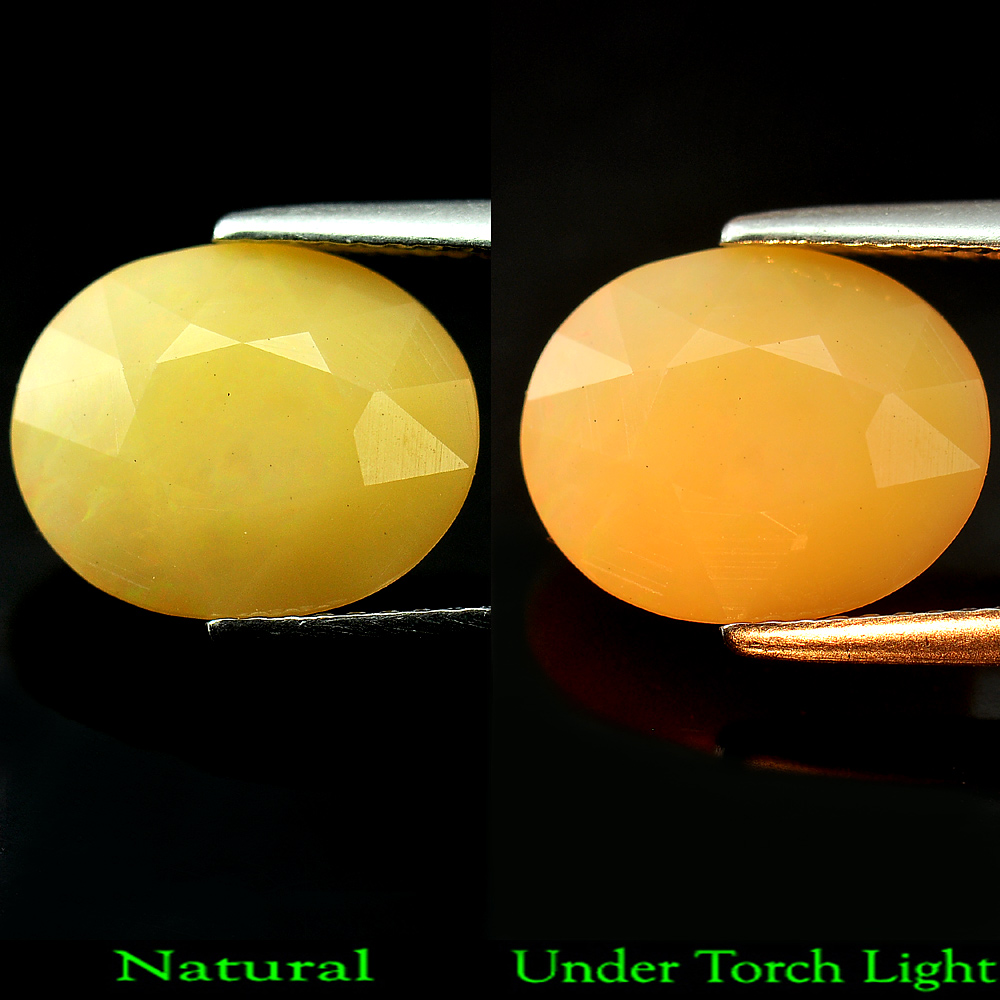3.35 Ct. Attractive Oval Shape Natural Gemstone Multi Color Opal Unheated