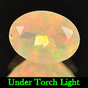 0.92 Ct. Oval Shape Natural Multi Color Opal Unheated