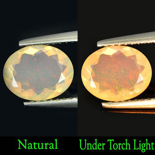 1.07 Ct. Nice Oval Natural Gem Multi Color Play Of Colour Opal