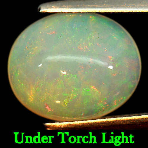 3.02 Ct. Oval Cabochon Natural Gemstone Multi-Color Play Of Colour Opal