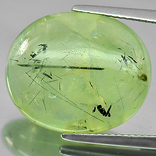 18.55 Ct. Oval Cabochon Natural Gem Green Prehnite Unheated