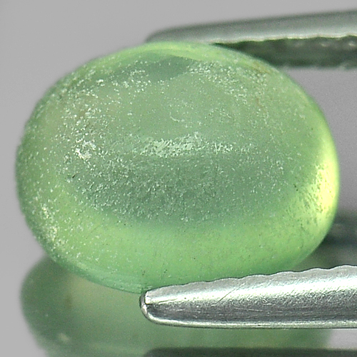 2.92 Ct. Beauty Oval Cabochon Natural Green Prehnite Gem Australia