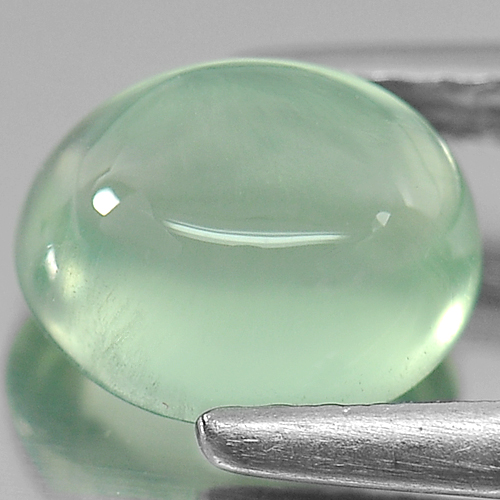 1.74 Ct. Natural Green Prehnite Gemstone Oval Cabochon Unheated