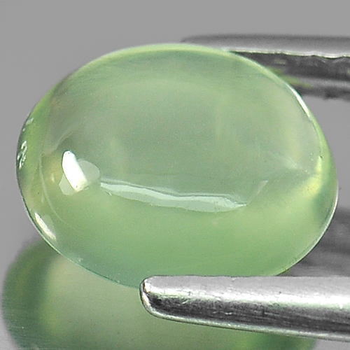 1.87 Ct. Oval Cabochon Natural Gemstone Green Prehnite Unheated