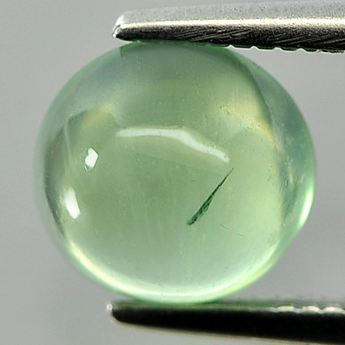 Unheated 1.69 Ct. Round Cabochon Natural Green Prehnite Gem