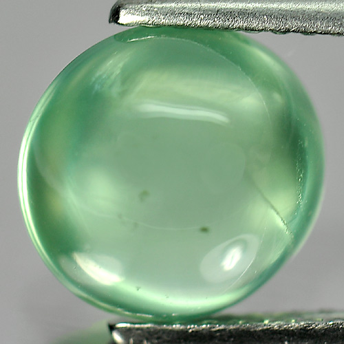3.35 Ct. Oval Cabochon Natural Green Prehnite Gemstone