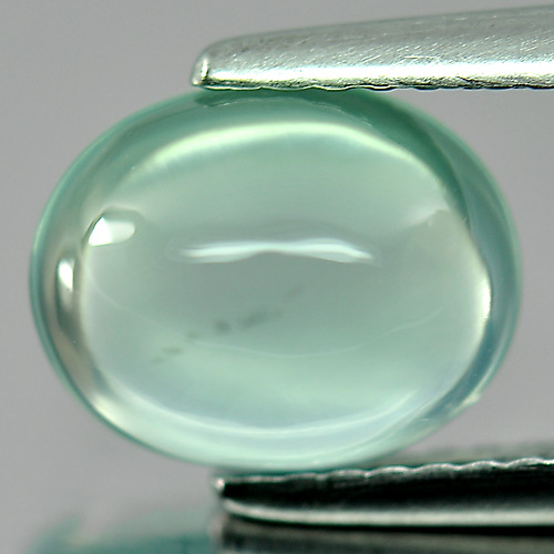 Nice Gemstone 2.55 Ct. Oval Cabochon Natural Green Prehnite