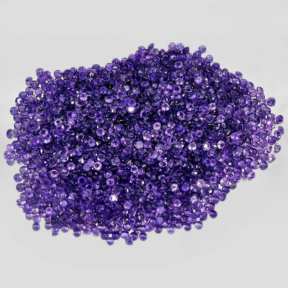 1 Ct. / $6.00 Size 3 Mm. Round Shape Natural Gemstones Purple Amethyst Unheated