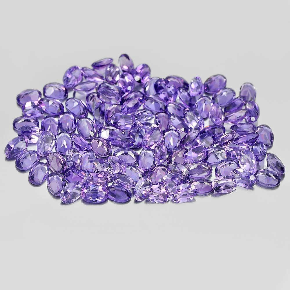 1 Pc. / $ 3.50 Oval Shape Gems Good Natural Purple Amethyst Unheated