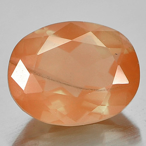 2.25 Ct. Beauty Gemstone Natural Red Orange Andesine Oval Shape